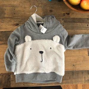 Baby gap polar bear hoodie, so soft! 18-24 months